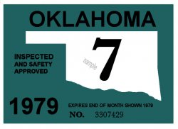 1979-7 Oklahoma Inspection Sticker