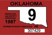 1987 Oklahoma Inspection Sticker