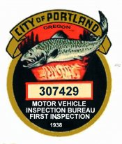 1938 Oregon Inspection 1st PORTLAND