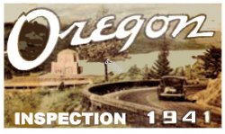 1941 Oregon Inspection sticker