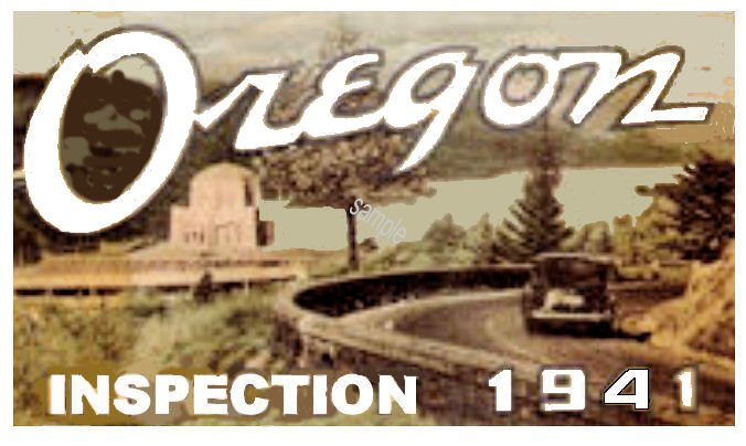 1941 Oregon Inspection sticker - Click Image to Close