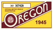 1945 Oregon Registration Sticker
