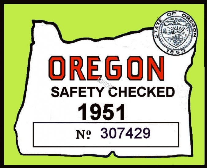 1951 OR safety Check - Click Image to Close