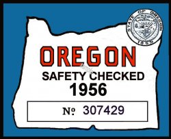 1956 Oregon Safety Check Inspection sticker