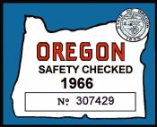 1966 Oregon Safety inpection sticker