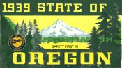 1939 Oregon Safety sticker