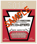 1937 Pennsylvania INSPECTION Sticker