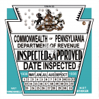 1938 Pennsylvania Inspection Sticker