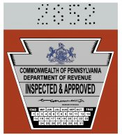 1940 Pennsylvania INSPECTION Sticker