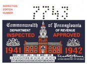 1941-42 Pennsylvania Sticker