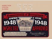1948 Pennsylvania INSPECTION Sticker