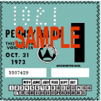 1973-1 Pennsylvania INSPECTION Sticker
