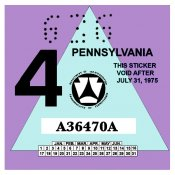 1975-4 Pennsylvania INSPECTION Sticker