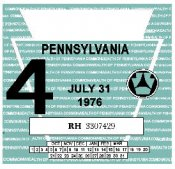 1976-4 Pennsylvania INSPECTION Sticker