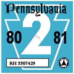 1980-81-2 Pennsylvania INSPECTION Sticker