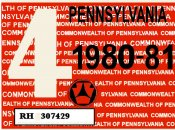 1980-81-4 Pennsylvania INSPECTION Sticker