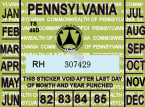 1982-1985 Pennsylvania Inspection Sticker