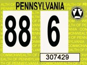 1988 Pennsylvania inspection sticker