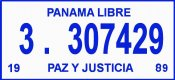Panama 1989 inspection sticker