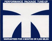 Tuneup Masters Performance Sticker