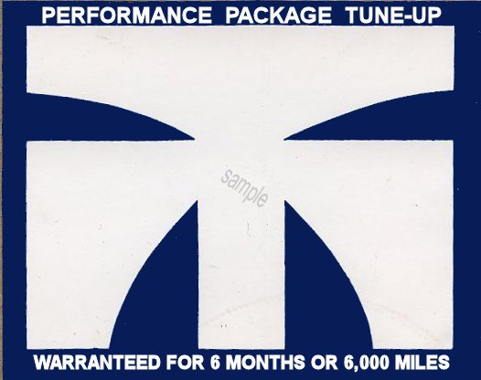 Tuneup Masters Performance Sticker - Click Image to Close