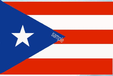 Puerto Rico Flag Sticker - Click Image to Close