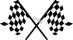 RACING FLAG sticker