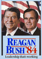 1984 Reagan Bush President sticker