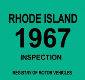 1967 Rhode Island Inspection Sticker