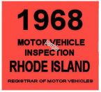 1968 Rhode Island Inspection Sticker