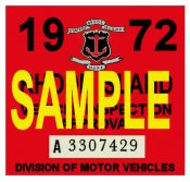 1972 Rhode Island Inspection Sticker