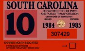 1984 -85 South Carolina INSPECTION Sticker