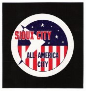 Iowa Sioux City All America City Sticker