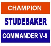 STUDEBAKER Champion Commander sticker