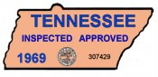 1969 Tennessee Safety inspection sticker