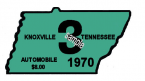 1970 Tennessee INSPECTION Sticker (Knoxville)