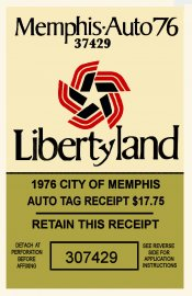 1976 Tennessee Inspection Sticker (Memphis)