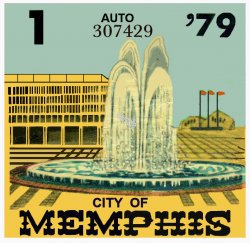 1979 Tennessee Inspection sticker (Memphis)