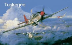 "1942 ""Tuskeegee Red Tail"" fighter WW2 Sticker"