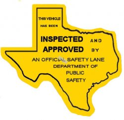 1945 Texas Safety Lane Inspection Sticker