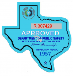 1957 Texas Inspection Sticker