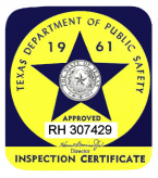 1961 Texas Inspection Sticker