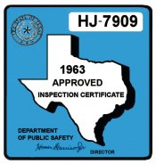 1963 Texas Inspection Sticker