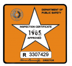 1965 Texas Inspection Sticker