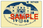 1968 Texas Inspection Sticker