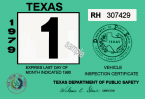 1979 Texas Inspection Sticker