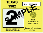 1982 Texas Inspection sticker