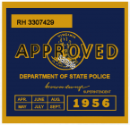1956 Virginia INSPECTION Sticker