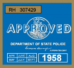 1958 Virginia Inspection Sticker