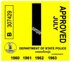 1960-63 Virginia INSPECTION Sticker
